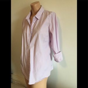 Fits M jcrew check cotton lilac/white gingham look